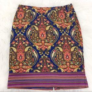 Merona Target Vibrant Print Pencil Skirt